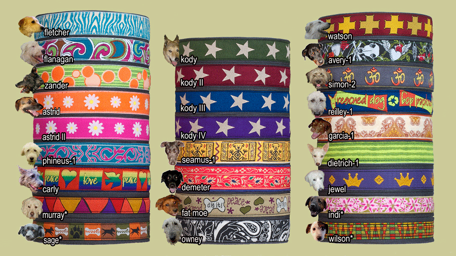 Earthdog Decorative Hemp Dog Collar - Large - Choose a Design