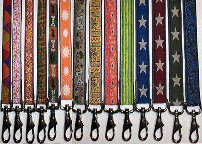 Earthdog Decorative Hemp Dog Leash - 4 ft - Choose a Design