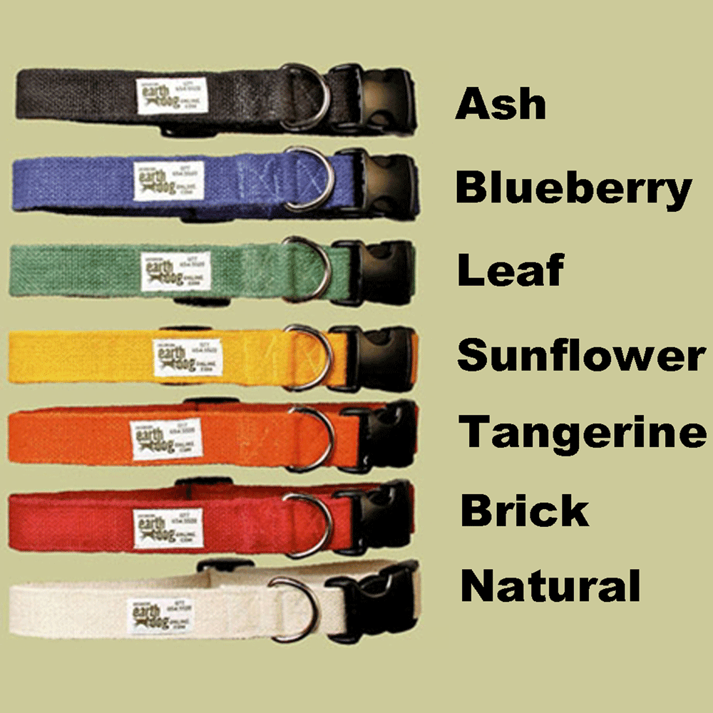 Earthdog Hemp Dog Collar - Small - Choose a Color