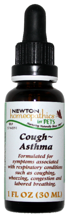 Newton Homeopathics Cough-Asthma for Pets - 1 fl oz