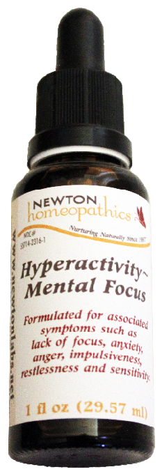Newton Homeopathics Hyperactivity-Mental Focus for People - 1 fl oz