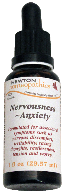 Newton Homeopathics Nervousness & Anxiety for People - 1 fl oz