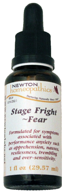 Newton Homeopathics Stage Fright & Fear for People - 1 fl oz