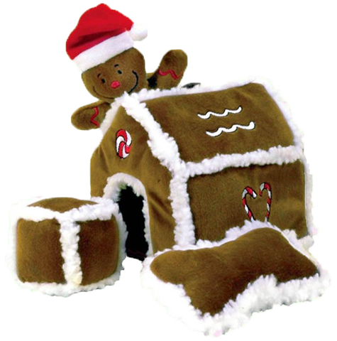 Plush Puppies Christmas Hide-A-Toy Gingerbread House