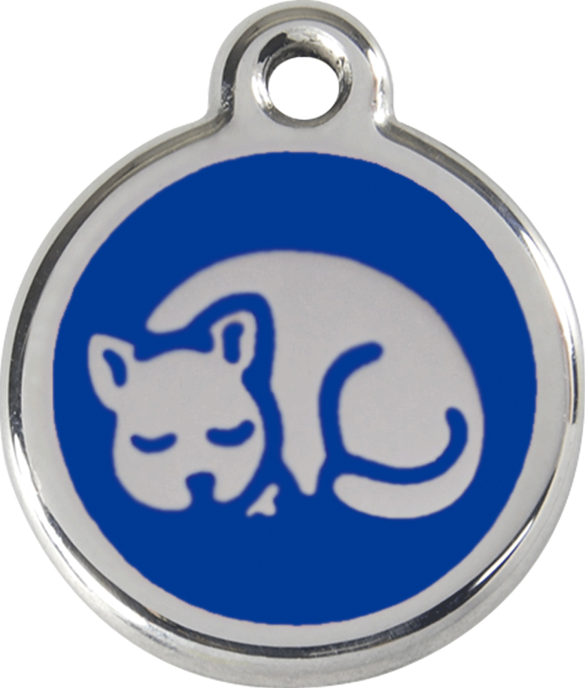 Red Dingo Stainless Steel Enameled Engraved ID Tag - Kitten - Small - Pick a Color