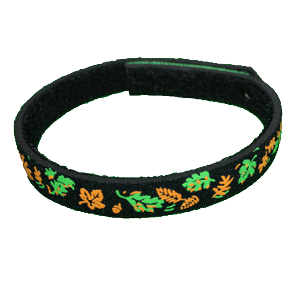 Beastie Band Cat Collar - Autumn Orange Leaves - Choose a Color