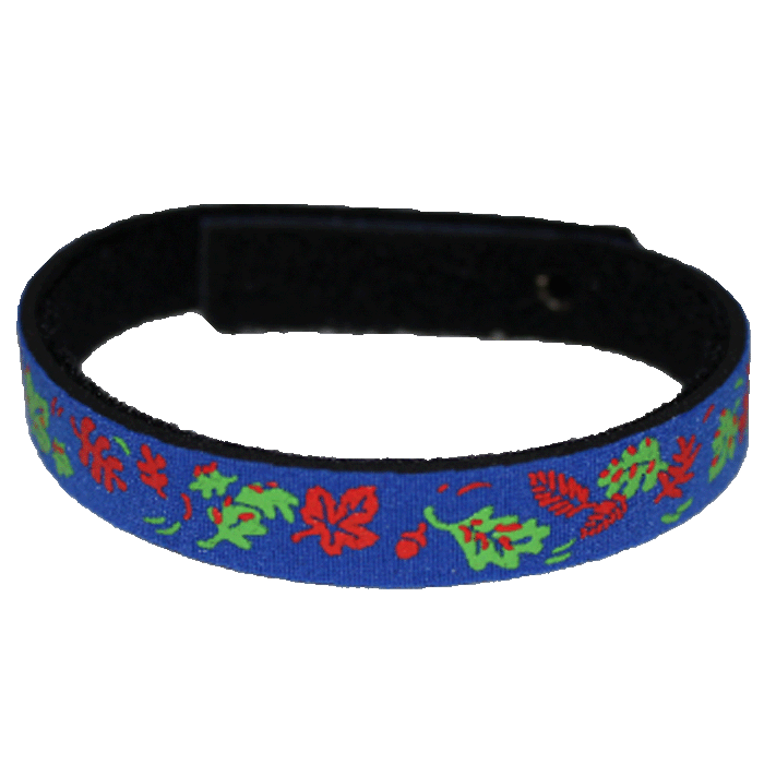 Beastie Band Cat Collar - Autumn Red Leaves - Choose a Color