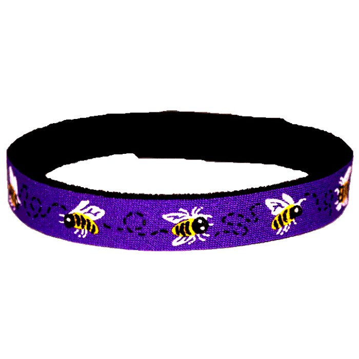 Beastie Band Cat Collar - Buzzing Bees - Choose a Color