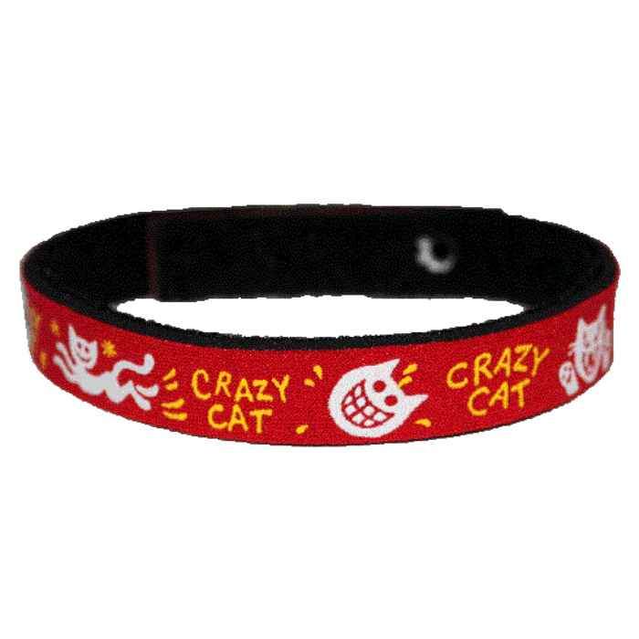 Beastie Band Cat Collar - Crazy Cat - Choose a Color