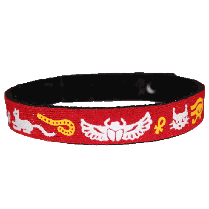 Beastie Band Cat Collar - Egyptian Designs - Choose a Color