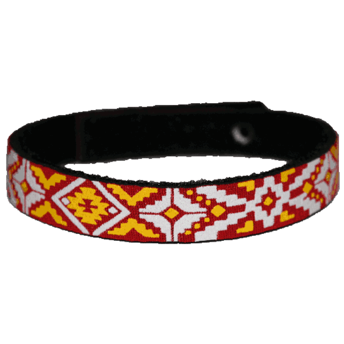 Beastie Band Cat Collar - Indian Blanket - Choose a Color