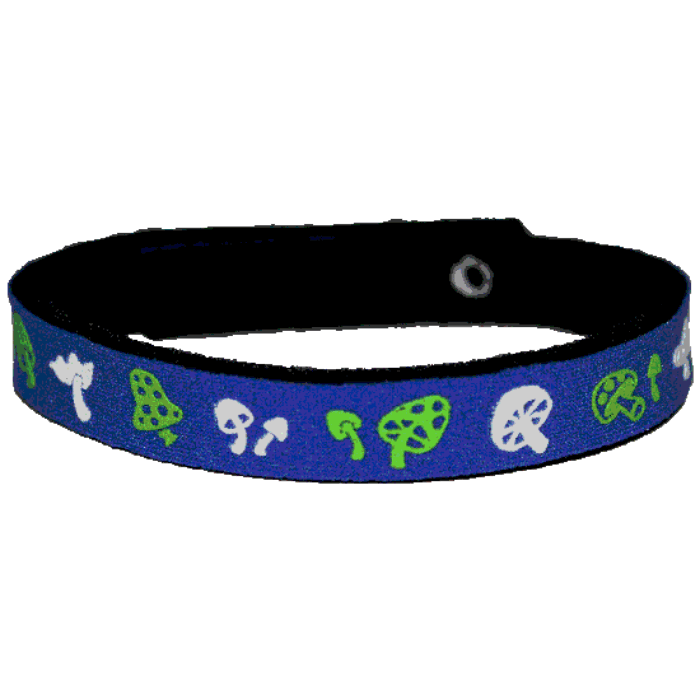 Beastie Band Cat Collar - Magic Mushrooms - Choose a Color