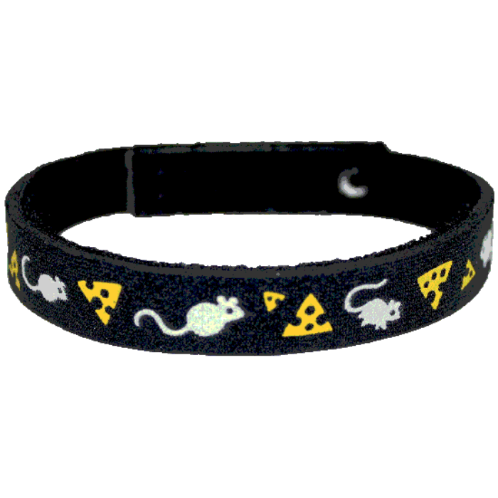Beastie Band Cat Collar - Mice and Cheese - Choose a Color