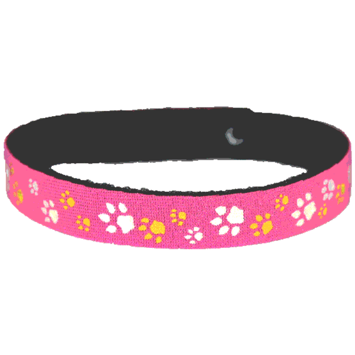 Beastie Band Cat Collar - Paw Prints - Choose a Color