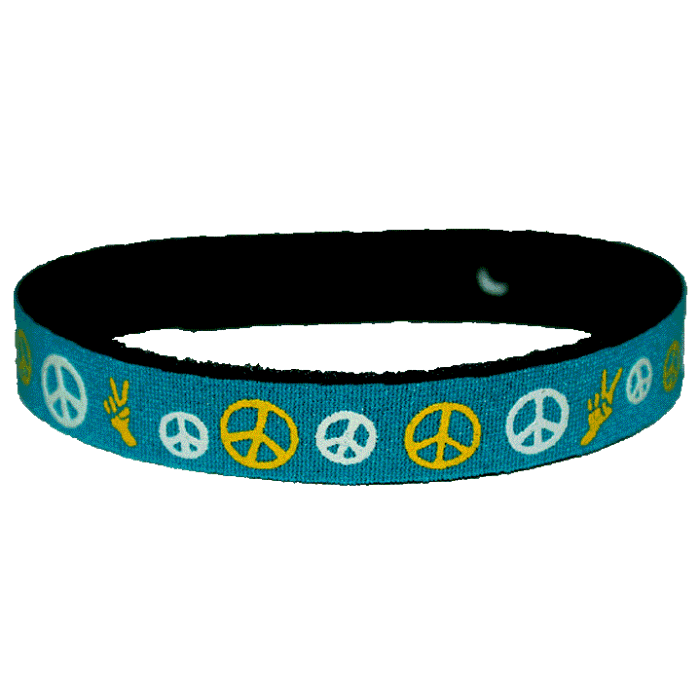 Beastie Band Cat Collar - Peace Signs - Choose a Color