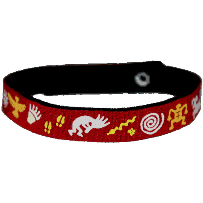 Beastie Band Cat Collar - Petroglyphs - Choose a Color