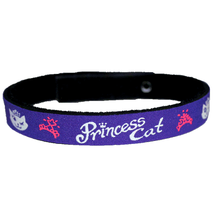 Beastie Band Cat Collar - Princess Cat - Choose a Color