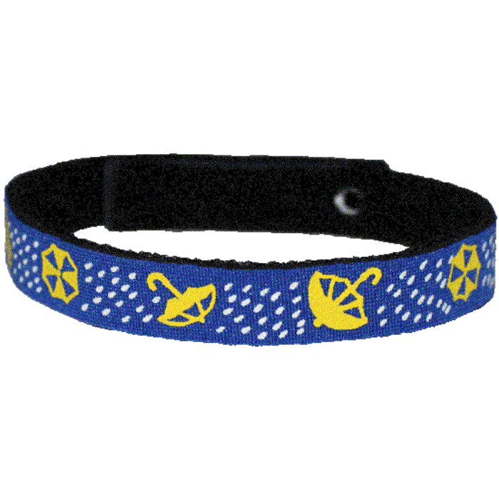Beastie Band Cat Collar - Rainy Umbrellas - Choose a Color
