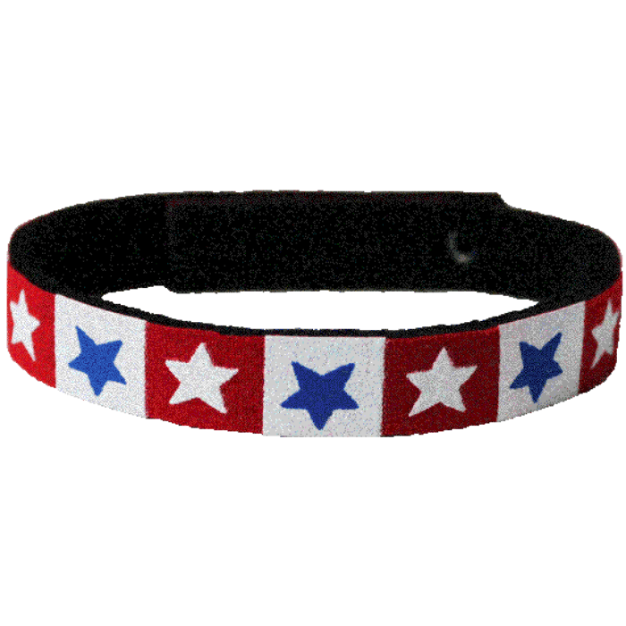 Beastie Band Cat Collar - Red White and Blue Stars