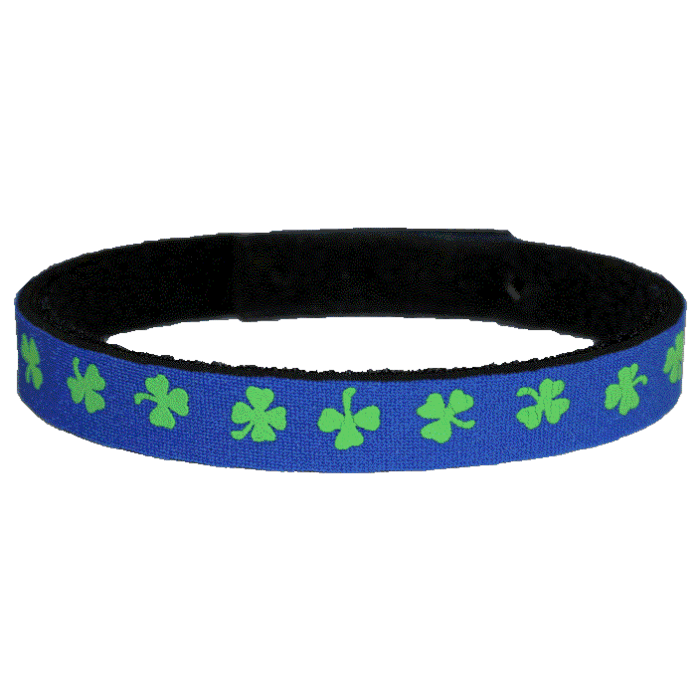 Beastie Band Cat Collar - Shamrocks - Choose a Color