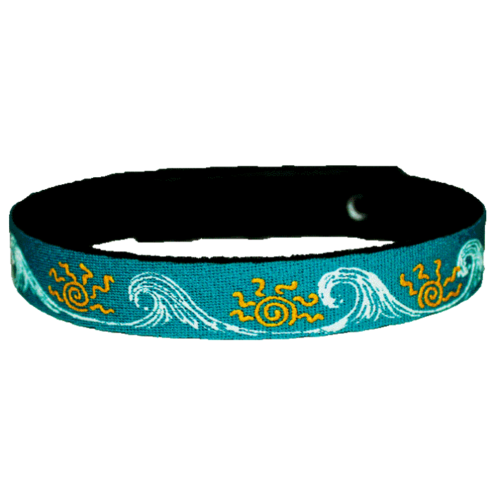 Beastie Band Cat Collar - Sun and Surf - Choose a Color