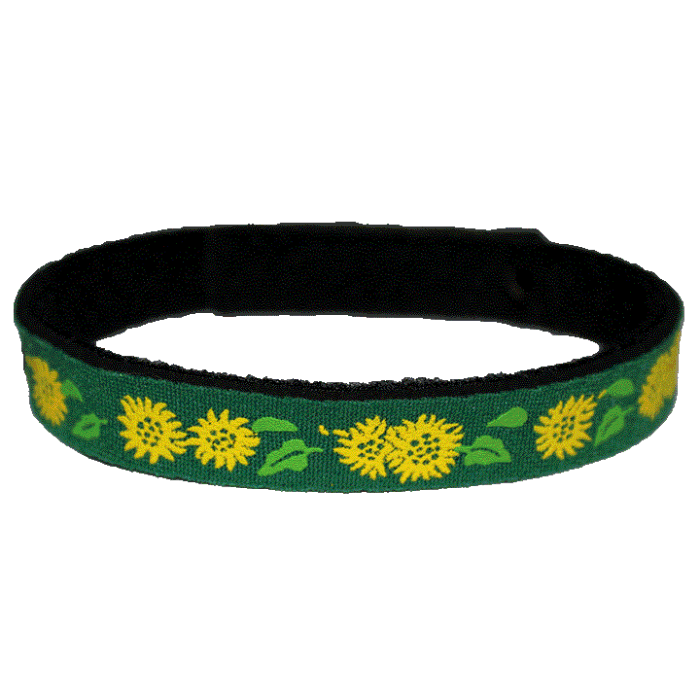 Beastie Band Cat Collar - Sunflowers - Choose a Color