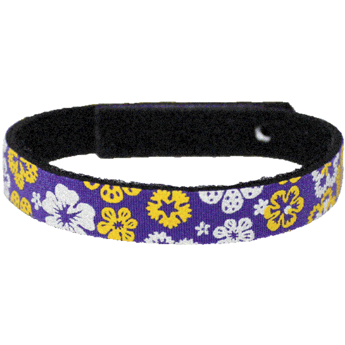 Beastie Band Cat Collar - Tropical Flowers - Choose a Color