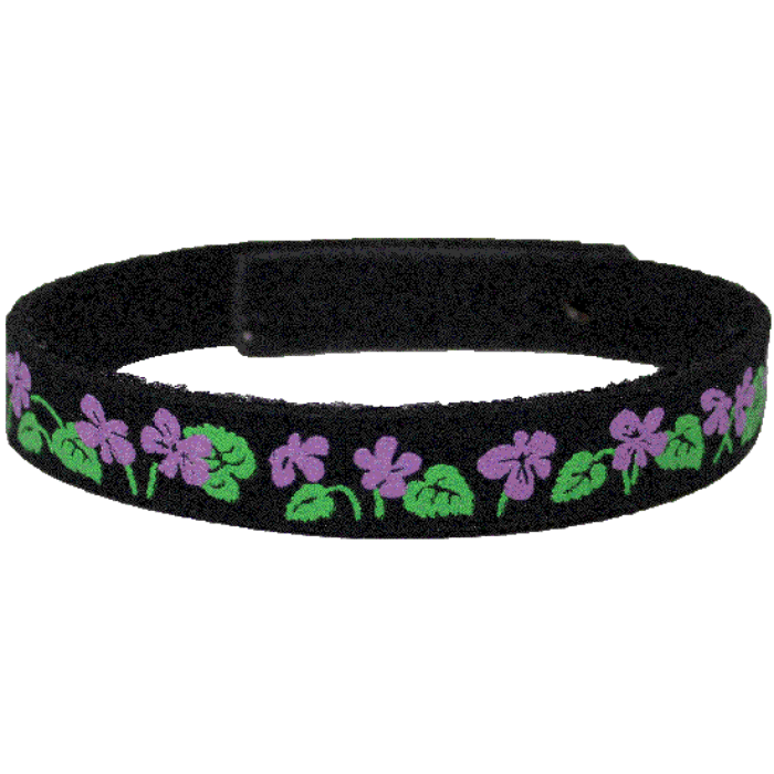 Beastie Band Cat Collar - Violets - Choose a Color