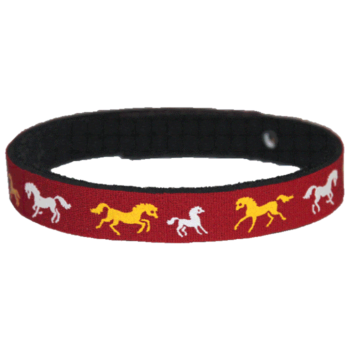 Beastie Band Cat Collar - Wild Horses - Choose a Color