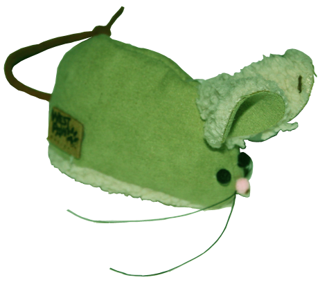 West Paw Design Barn Mouse Faux-Suede Catnip-Filled Cat Toy with Bell - Fern Green