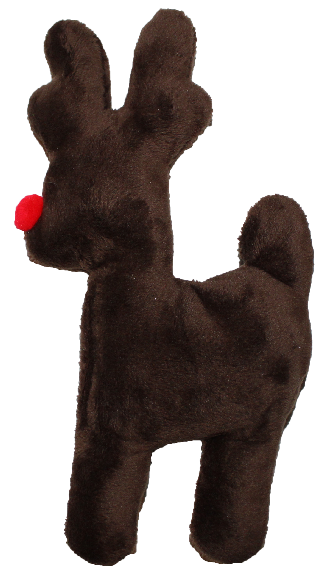 West Paw Design Tiny Tuff Reindeer Dog Toy - Brown