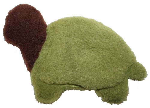 West Paw Design Eco-Fleece Turtle Dog Toy - Green