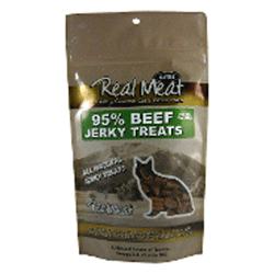 Real Meat Beef Jerky Treats Bites for Cats - 3 oz
