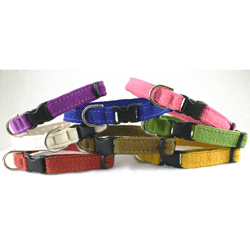 Good Dog Hemp/Organic Cotton Cat Collar 3/8