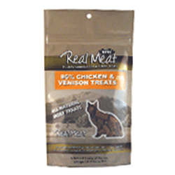 Real Meat Chicken and Venison Jerky Treats Bites for Cats - 3 oz
