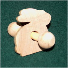 Funny Bunny Rattle wood toy