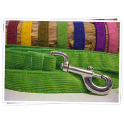 Good Dog Hemp/Corduroy Dog Leash 1/2