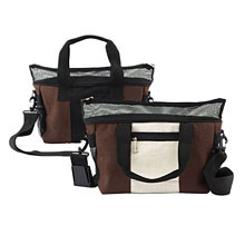 Doggles LLC Hemp Pet Carrier - Large - Brown / Off White