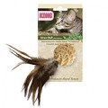 Kong Natural Cat Straw Ball with Feathers