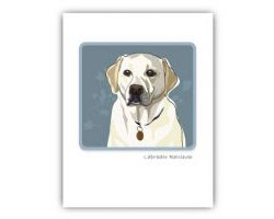 Grrreeting Card White Lab