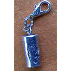 Thai Silver Bell Charm - Tube Fish