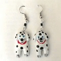 Dalmatian Dog Earrings