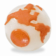 Planet Dog Orbee Ball Glow/Orange - Pick a Size