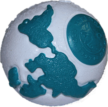 Planet Dog Orbee Ball Silver/Teal - Pick a Size