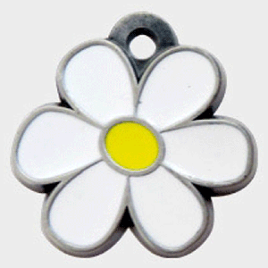 Hotdogs Daisy ID Tag with Engraving - Silver - Large