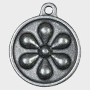 Hotdogs Daisy Metal ID Tag with Engraving - Brass or Silver - Small