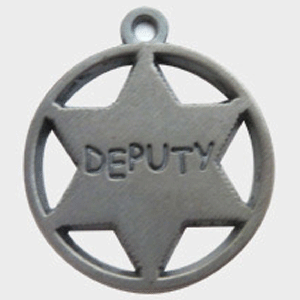 Hotdogs Deputy ID Tag with Engraving - Silver - Large