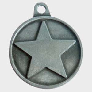 Hotdogs Star ID Tag with Engraving - Brass or Silver - Medium