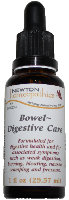 Newton Homeopathics Bowel Digestive Care for People - 1 fl oz