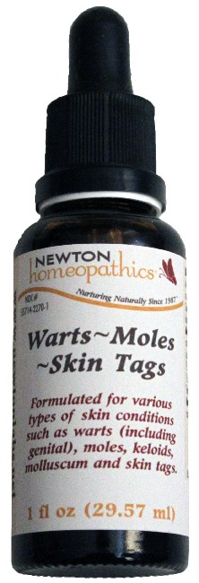 Newton Homeopathics Warts, Moles, Skin Tags for People - 1 fl oz